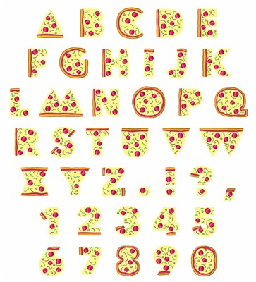 PIZZA FUN FONT By Embroidery Patterns Embrilliance Fonts On
