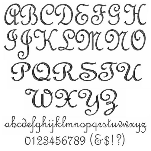 French script alphabet by embroidery patterns home format