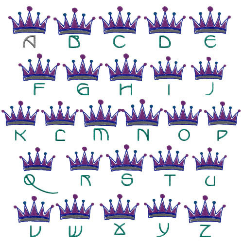 Royal monograms pack by embroidery patterns home format
