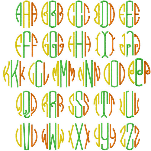 Monograms pack by embroidery patterns home format fonts