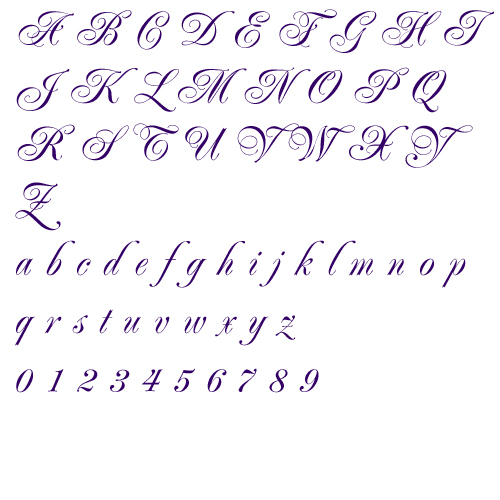 stylish handwriting a to z