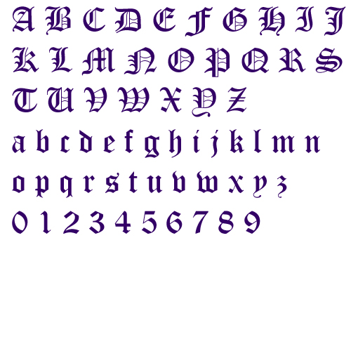 Old english alphabet by fireside threads home format fonts on largeimg altavistaventures