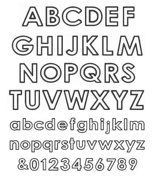 letters block format