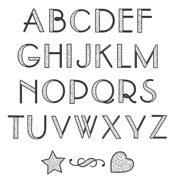 Stippled Alphabet Font By Great Notions Home Format Fonts On