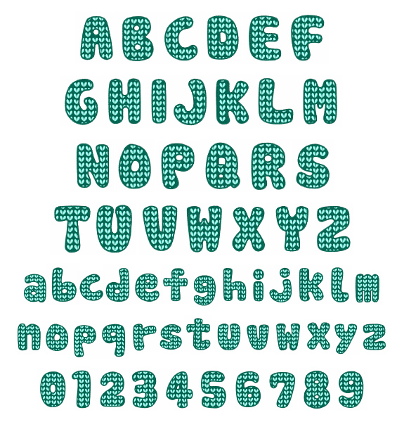 Knitting Font Free Download : Knit pattern font by hopscotch home format fonts on