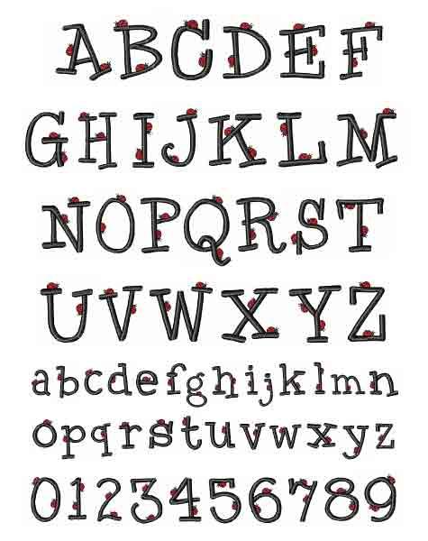 Lucky Ladybug Font By Hopscotch Home Format Fonts On
