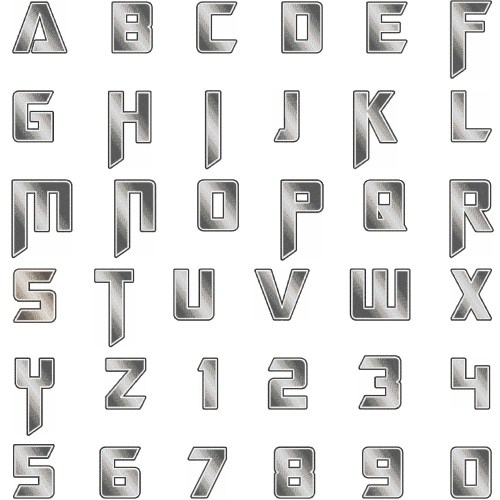 Heavy metal font by hopscotch home format fonts on for Where can i buy metal letters