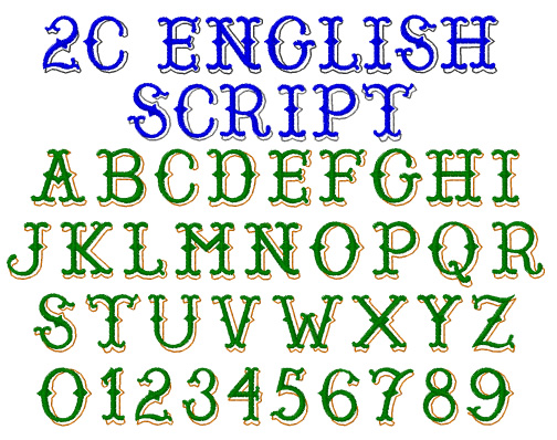 English Fonts Pack by Internet Stitch EFP Fonts Pack on ...