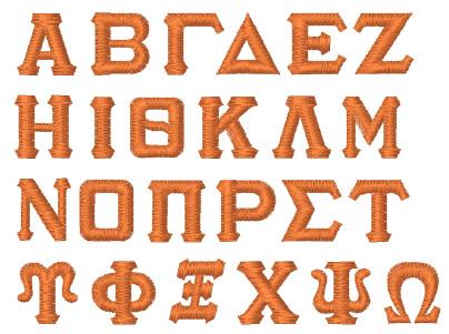 Greek Standard by Internet Stitch Home Format Fonts on