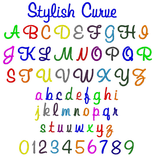 Stylish Curve By Internet Stitch Home Format Fonts On