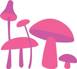 Pink Fungi Mushrooms print art