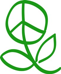 Peace Flower print art