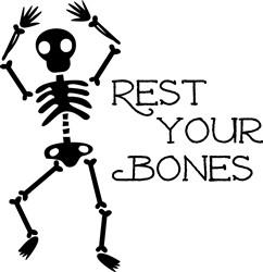 Black Skeleton Rest Your Bones print art