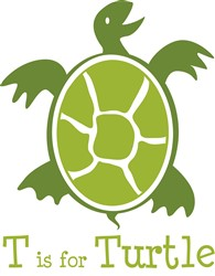 T Is For Turtle print art