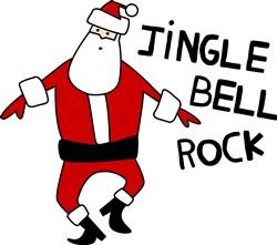 Santa Claus Jingle Bell Rock print art