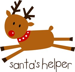 Rudolph Santas Helper print art