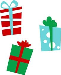 Wrapped Presents print art