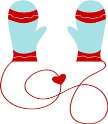Holiday Mittens print art