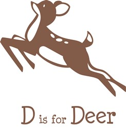 D Is For Deer print art