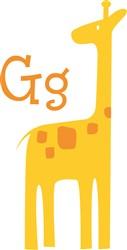 G For Giraffe print art