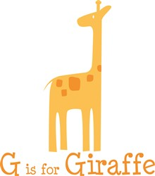 G Is For Giraffe print art