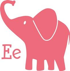 E For Elephant print art