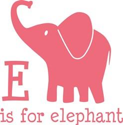 E Is For Elephant print art