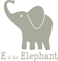 E Is For Elephant print art