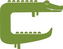 Green Crocodile print art
