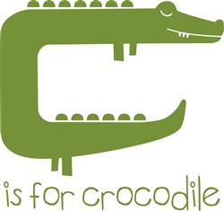 C Is For Crocodile print art