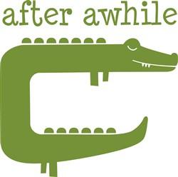After Awhile Crocodile print art