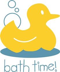 Ducky Bath Time print art