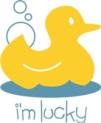 Ducky I'm Lucky print art