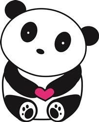 Panda Heart print art