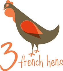 Christmas French Hens print art