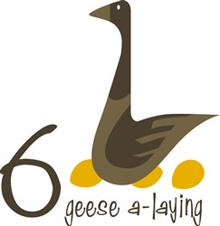 Geese A-Laying print art