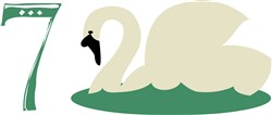 7 Swans-A-Swimming print art