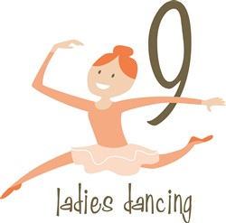 Xmas Ladies Dancing print art