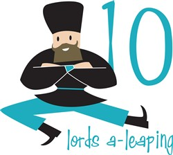 10 Lords A-Leaping print art