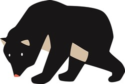 Black Bear print art