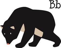 B Bear print art