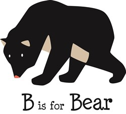 B Is For Bear print art