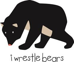 I Wrestle Bears print art