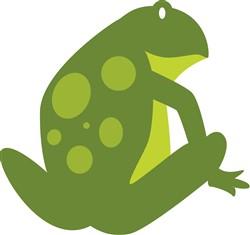 Green Frog print art