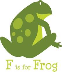 F Is For Frog print art