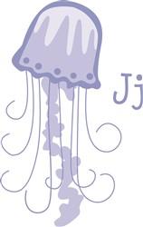 Jellyfish With J print art