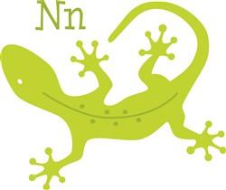 N For Newt  print art