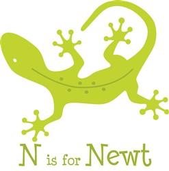 N Is For Newt print art