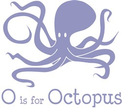 O Is For Octopus print art