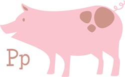 P For Pig   print art